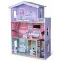 Domek drewniany z windą dla lalek New