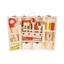 Skrzynka + zestaw narzędzi drewnianych