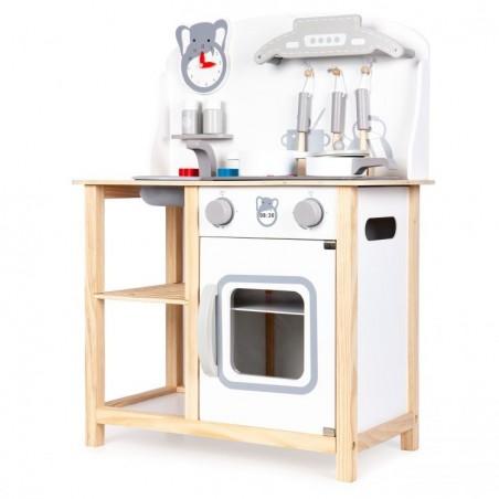 Drewniana kuchnia dla dzieci z dźwiękami