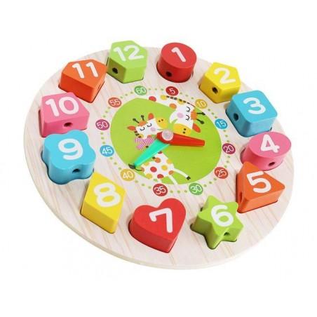Zegar drewniany zabawkowy