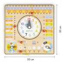 Drewniany kalendarz zegar - tablica manipulacyjna