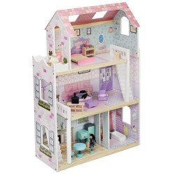 Domek drewniany dla lalek 86 cm