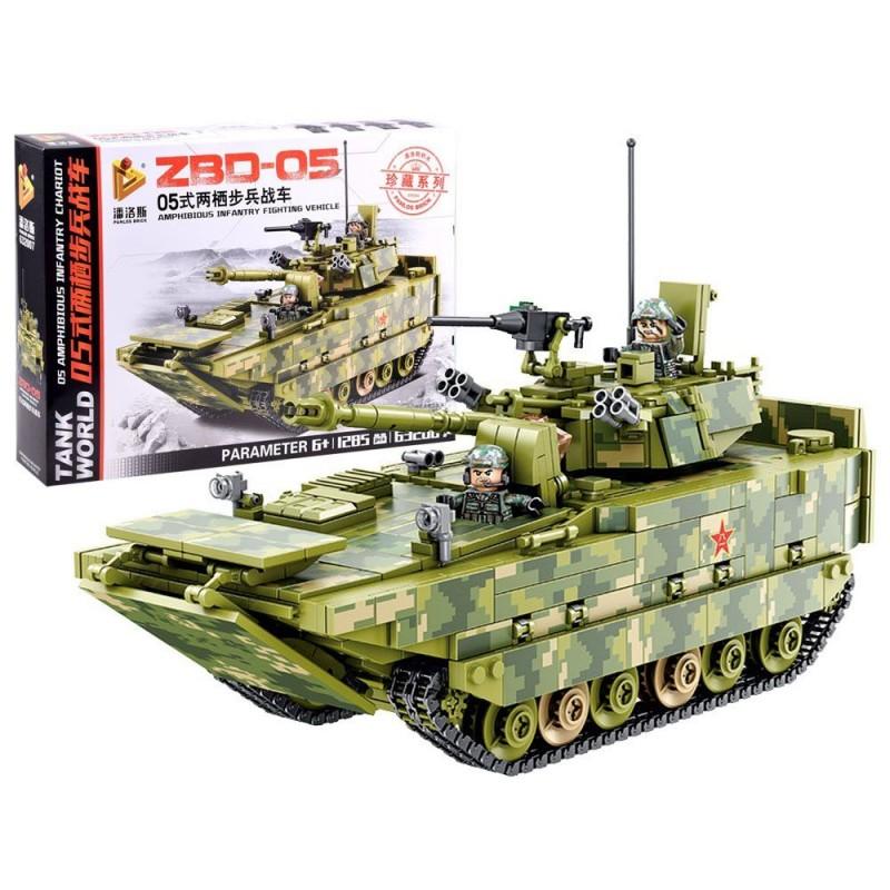 Klocki techniczne zbuduj Czołg ZBD-05 1285 el