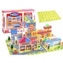 Piankowe Klocki + puzzle miasteczko 114 el.