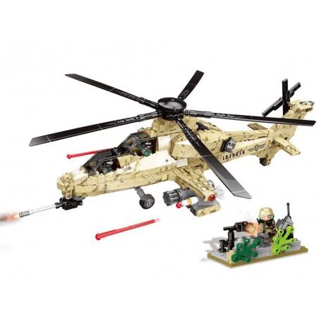 Klocki helikopter wojskowy szturmowiec 749 el.