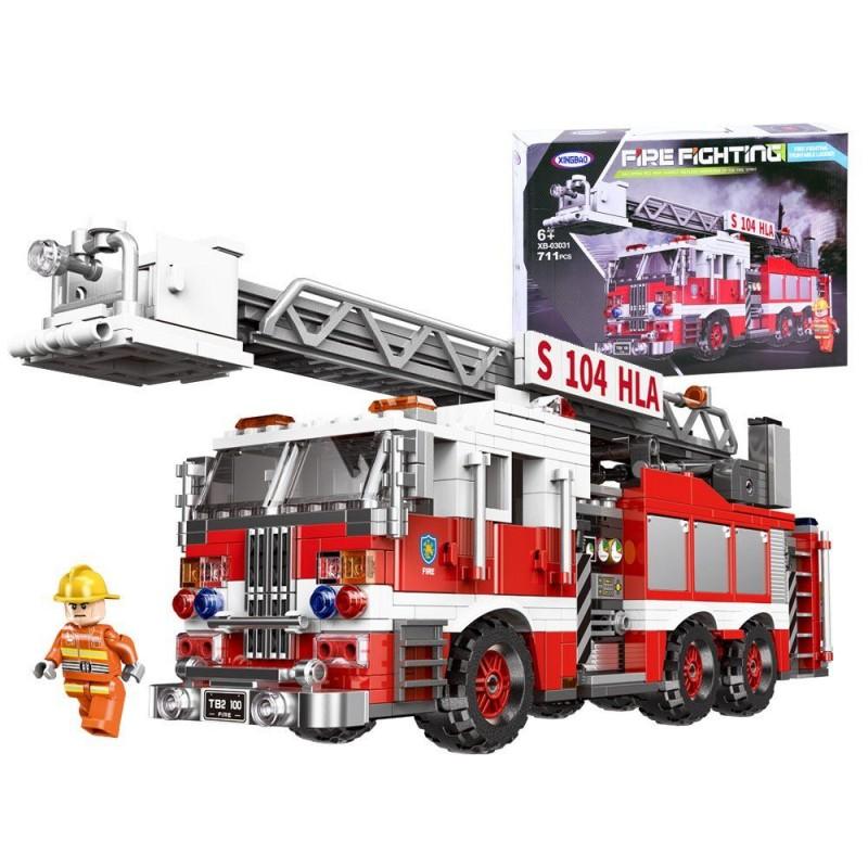 Klocki zbuduj Wóz strażacki auto 711el.