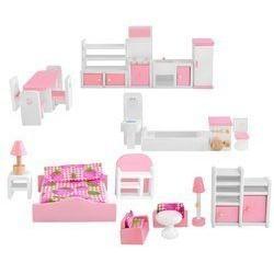 Mebelki dla lalek drewniane - zestaw XL