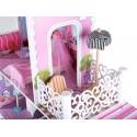 Wielki Domek dla lalek z garażem meble ZLA0048