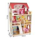 Domek drewniany dla lalek - willa LED 90 cm