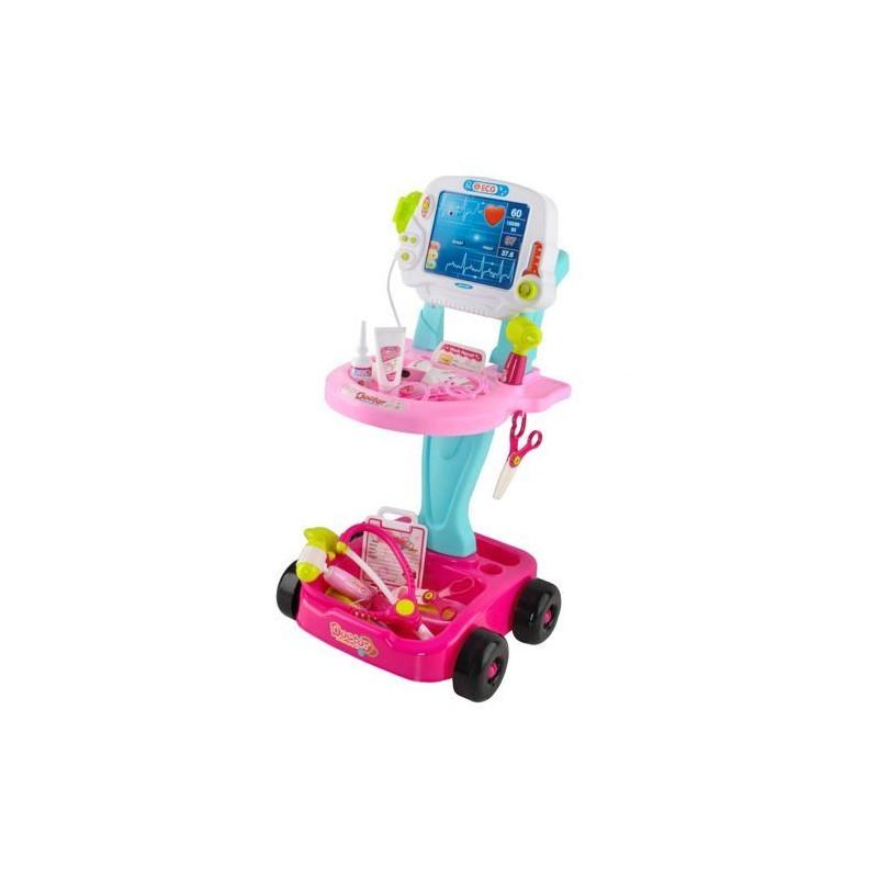 Zestaw małego doktora - wózek różowy