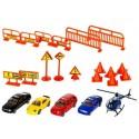 Parking 4 poziomy + zestaw autek + helikopter