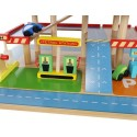 Drewniany Garaż Parking na Autka dla Dziecka
