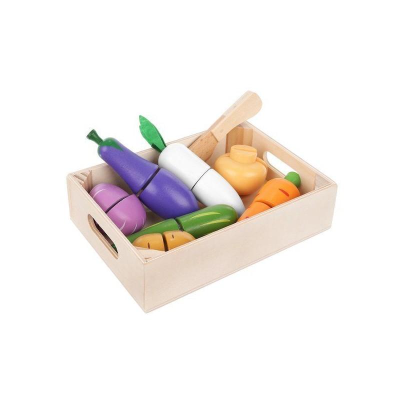Drewniane warzywa i owoce na rzep Z11207