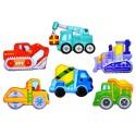 Zestaw magnesy Zrób to sam - Pojazdy budowlane