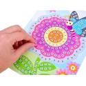 Mozaika wyklejanka naklejki - Kwiatek