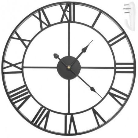 Zegar ścienny retro - czarny